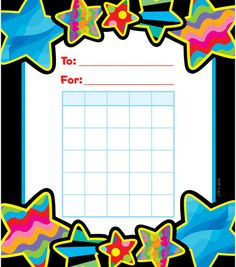 Poppin Patterns: Star Student Incentive Chart