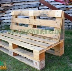 mesa-y-banco-hecho-con-palets - DIY Furniture Couch Ideen