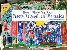 How I Organize My Kids' Paperwork, Artwork, and Mementos - Family Balance Sheet Paper Artwork, Kids Artwork, Balance Sheet, Konmari Method, Photo Store, Guest Gifts, Baby Album, First Daughter, Post Today