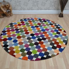 I2k Idesign Circular Rugs Id125 Multicolour Online From The Rug Er Uk