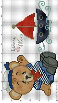 This Pin was discovered by Paq Cross Stitch Sea, Baby Cross Stitch Patterns, Cross Stitch Flowers, Cross Stitch Charts, Cross Stitching, Cross Stitch Embroidery, Bobble Stitch, Crochet Diagram, Le Point