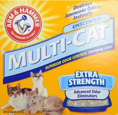 Arm & Hammer Multi-Cat Strength Clumping Litter, Unscented 20-lb: Get it for $8.37 (was $19.40) #coupons #discounts