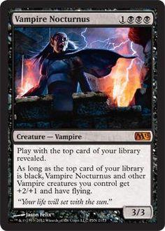 Magic the Gathering : M13 Vampire Nocturnus PS3 Promo