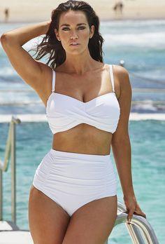 1a122df0bdc2e Swim Sexy The Luminary White Bikini White High Waisted Bikinis