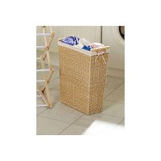 white slimline laundry basket from lakeland all things. Black Bedroom Furniture Sets. Home Design Ideas