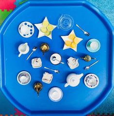 This would be great for turn taking Cafe Role Play Area, Role Play Areas, Tuff Spot, Tiger Crafts, Tuff Tray, Messy Play, Sensory Play, Learning Activities, Tea