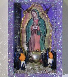 Nicho  Our Lady of Guadalupe  Retablo by CherryPicks on Etsy,
