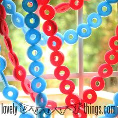 pool noodle 4th of july garland