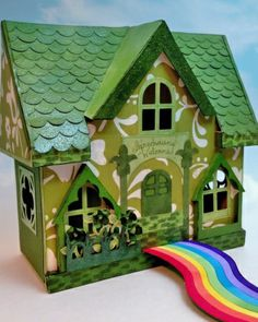 """Follow the Rainbow"" Leprechaun Trap by Allie Gower featured on the Martha Stewart Living website <3"