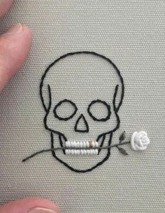 Embroidery not only creates beautiful art but it's also a super fun hobby. So, to inspire you to take up a new craft, we've gathered together the best inspo pics that'll persuade you in an instant. Embroidery Flowers Pattern, Embroidery On Clothes, Shirt Embroidery, Hand Embroidery Patterns, Vintage Embroidery, Cross Stitch Embroidery, Simple Embroidery Designs, Halloween Embroidery, Embroidery Stitches Tutorial
