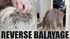 How To:  REVERSE BALAYAGE TECHNIQUE To Add Depth To Overly BLONDE Hair -...