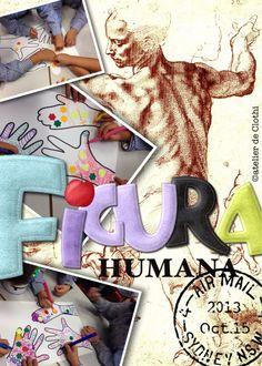 Figura humana, células y venas artísticas.