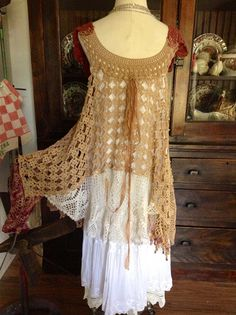Luv Lucy Crochet Dress Lucy's Passion Vine  by TheVintageRaven, $195.00