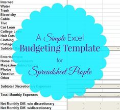 Download a free sample Microsoft Excel budget template. Here's my family's monthly expense spreadsheet complete with an example list of cost categories.