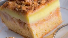 "Prajitura ""Felie de mar"" cu nuci si vanilie Food Cakes, Sweet Memories, Cornbread, Cake Recipes, Cheesecake, Pudding, Sweets, Cooking, Ethnic Recipes"