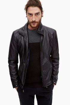 Eco-Leather Biker Jacket - Urban Jazz | Adolfo Dominguez shop online