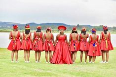 Wedding Dresses South Africa, African Wedding Attire, African Attire, African Fashion Dresses, African Dress, African Weddings, Zulu Traditional Wedding Dresses, South African Traditional Dresses, Blue And Yellow Dress