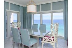 TOPS'L Beach Manor is the Perfect Vacation Location in Destin, Florida on the Gulf Coast. Dining Chairs, Dining Room, Dream Vacations, Condo, Florida, Bright, Beach, House, Furniture