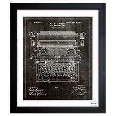 Typewriter Framed Print.