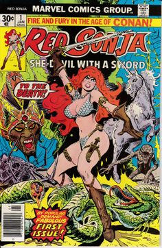 Red Sonja 1977 1st Marvel Series 1 January 1977 by ViewObscura, $15.00