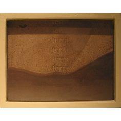 "Tierra (Rectangle) (2009) by Artist: Teresa Pereda | Soil, Handmade Paper, Wood, Glass | Size: 9"" x 7"" x 1.6"" 22 x 17 x 4 cm. | http://www.objectmythology.com/"