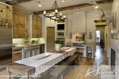Architectural consultant, Sarah West.  Farmhouse style kitchen but so elegant. Love Love Love