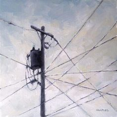 """""""Intersecting Wires"""" - Original Fine Art for Sale - © Michael Naples"""