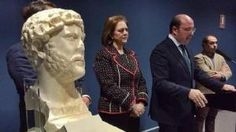 Scoperto a Yecla, Spagna, un busto romano dell'Imperatore Adriano risalente al 135 d.C.