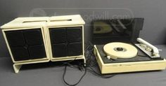 Sears Record Player With Speakers & Rack
