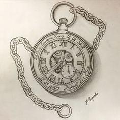 Open Pocket Watch Tattoo Designs | galleryhip.com - The Hippest ...