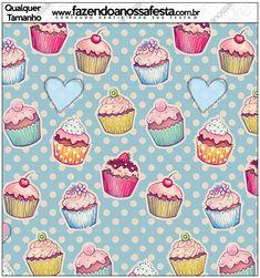 Molde Quadrado Cupcakes: