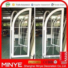 2016 lates design aluminum powder coating wooden grain casement door design / aluminum casement door/ windows and doors