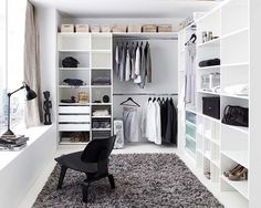 Walk in wardrobe inspiration dressing room in 2019 wardrobe room, closet be Wardrobe Room, Closet Bedroom, Home Bedroom, Master Closet, Closet Space, Closet Office, Master Bedroom, Bedrooms, Ikea Walk In Wardrobe