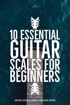 Guitar Scales for beginners. 10 Essential scales for beginning guitarists. Includes free PDF mini-book lesson in TAB and standard notation. Learn Acoustic Guitar, Learn Guitar Chords, Learn To Play Guitar, Learn Guitar Scales, Bass Guitar Scales, Teach Yourself Guitar, Piano Scales, Ukulele Chords, Learning