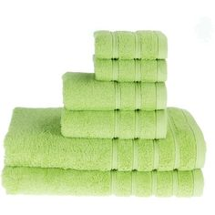 PROMIC 100% Cotton Bath Towel Set ,6 Piece Includes 2 Bath Towels, 2... (31 AUD) ❤ liked on Polyvore featuring home, bed & bath, bath, bath towels, cotton hand towels, 6 piece towel set, green bath towels, cotton bath towels and cotton washcloths