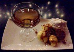 Feestelijk stroopwafel dessert