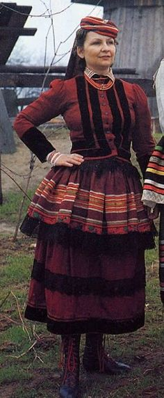 Hello all, Welcome again to Krzczonow, Lublin Province, Poland. I thought that the original posting was starting to run long, so i decided . Folk Costume, Costumes, Folk Clothing, How To Start Running, My Heritage, Traditional Outfits, Kaftan, Poland, Folklore