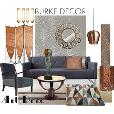 """Art DEco Set 4"" by szaboesz on Polyvore"