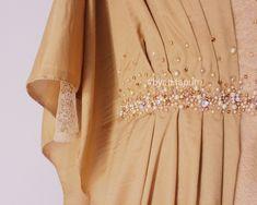 Hijab Gown, Crochet Shirt, Batik Dress, Kebaya, Beaded Embroidery, Fashion Details, Beading Patterns, Sash, Brooches