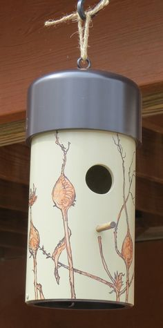 Original Painted Birdhouse made with PVC each by McNellyFineArts