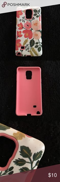 Sonix Samsung Galaxy Note 4 Case Samsung Galaxy Note 4 Sonix case in pink floral print. Minor scratches on the one corner but nothing too noticeable. sonix Other