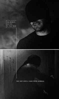 """The Masked Man(Matt Murdock) """"The moment you put on that mask, you got into a cage with animals"""" Daredevil Punisher, Daredevil Tv Show, Daredevil Matt Murdock, Marvel Comics, Marvel Heroes, Marvel Dc, Netflix Marvel, Defenders Marvel, Nerd"""