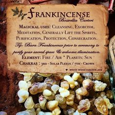 Potions, Candles, Incense, Crystals, Herbs & More * Bringing Magick to the Mundane! Magic Herbs, Herbal Magic, Frankincense Uses, Frankincense Incense, Dragons Blood Incense, Witch Herbs, Reiki, White Witch, Mystique