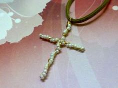 Emily Secret Passions: Free Tutorial ~ Twisted Wire Beaded Cross Pendant