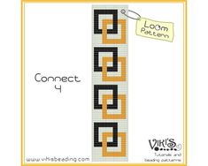 Connect 4    Loom bracelet pattern made with 11/0 Miyuki delica beads.    Width: 4.2cm/1.6  Length: 16.9cm/6.6  Colors: 3  Made for loom - can be done with Square stitch too.    NEW COUPON CODES!    20% discount code: 20PERCENTOFF (Minimum Purchase $13.00)  25% discount code: 25PERCENTOFF (Minimum Purchase $20.00)  35% discount code: 35PERCENTOFF (Minimum Purchase $40.00)    PLEASE NOTE:  You are buying a PATTERN in PDF format. The file will be directly downloadable through Etsy. You will…