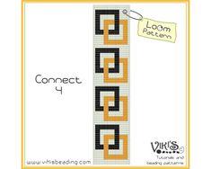 Loom Bracelet Pattern: Connect 4 - pdf - 3 for 2 sale - Loom Bracelet Patterns, Bead Loom Patterns, Peyote Patterns, Loom Bracelets, Beading Patterns, Beaded Bookmarks, Bead Crochet Rope, Bead Jewellery, Bead Weaving