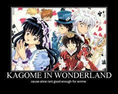 inuyasha Alice and wonderland   ... InuYasha, Alice in Wonderland, Miroku, Shippo, Sango, InuYasha