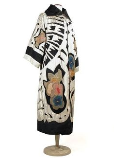 Opera Coat European ca. mid 1920s china silk, silk tulle, crepe de chine