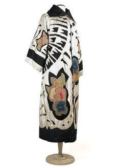 Ephemeral Elegance | Cutwork and Appliqued Art Moderne Opera Coat, ca....