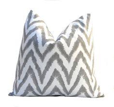 Decorative Throw Pillows Chevron Pillows Gray by FestiveHomeDecor, $36.00